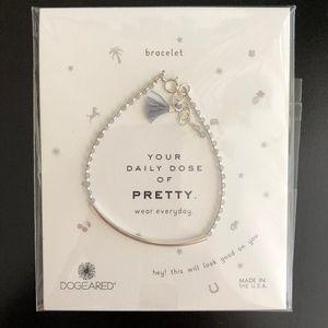 Dogeared Balance Silver Bead Bracelet